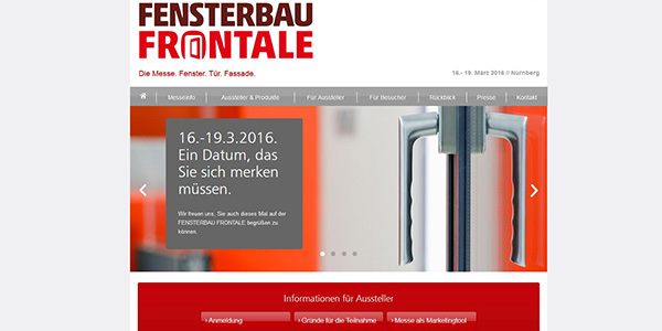 FENSTERBAU FRONTALE Online Marketing Website